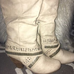 Not Rated Cream cowgirl boots
